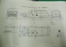 * Opel Olympia Rekord Caravan  P1  1960 Österreichischer Typenschein SAMMLER *