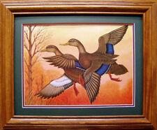 Black Ducks/Duck Decoy/Mallard/Sporting Art/Wildlife Art/Lodge Decor/Browning