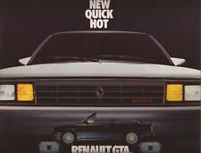 1987 87 Renault  GTA  original sales brochure MINT