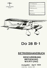 DORNIER Do 28 B-1 / BETRIEBSHANDBUCH / 1964 - 1966 / GERMAN TEXT