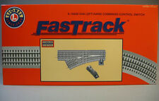 LIONEL FASTRACK 048 COMMAND CONTROL LH SWITCH O GAUGE train turnout 6-16830 NEW