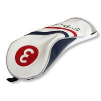 Craftsman Golf White Red Blue Pu Leather #3 Fairway Wood 3 Wood Headcover Cover