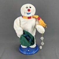 Gemmy Animated Frosty Snowman Spinning Snowflake Singing AS IS for Parts Repair
