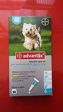 ADVANTIX 4-10kg, 4 PIPETAS antiparasitario