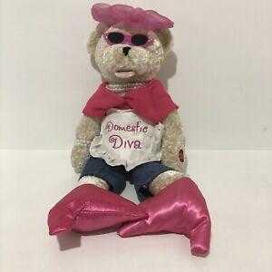 Chantilly Lane Vintage Musical Bear Singing Plush Domestic Diva 50 cm