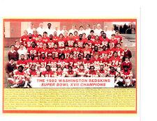 1982 SUPER BOWL CHAMPIONS WASHINGTON REDSKINS TEAM 8X10 PHOTO MOSELEY MANLEY