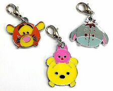 682f047f076 1 Set 3PCS Disney Winnie the Pooh Tiger charm zipper pull purse keychain  clip on