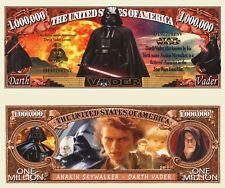Star Wars Darth Vader Million Dollar Bill Funny Money Novelty Note + FREE SLEEVE