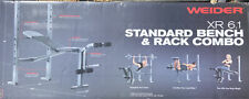 💪🏽🔥 NEW Weider XR 6.1 Adjustable Weight Bench + Rack + 5 Foot Standard Bar 🔥