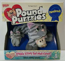 1996 GALOOB POUND PUPPIES / POUND PUR-R-RIES PUREBREDS SILVER TABBY FAMILY MOSC