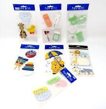 Bulk Lot #62 7 packs Paper Bliss Jumbo Stickers Baby Toys Animals + 29 pcs