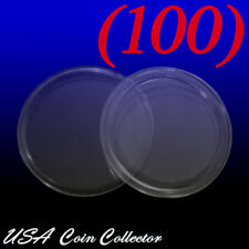 (100) Quarter Size Direct Fit Air-Tite Coin Capsule [A24] Genuine Holder- 24.3mm