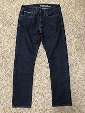 Gap Mens Jeans 34 Standard Taper Selvedge Dark Wash Denim