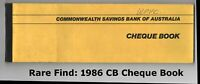 Commonwealth Bank.💲 50 Leaf Cheque Book 💲 Vintage 1986 💲 41 Leaves Blank✔️