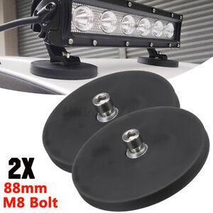2Pcs Magnetic Base Mount Magnet Bracket Offroad 4WD ATV Truck LED Work Light Bar