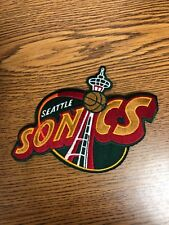 SEATTLE SUPERSONICS IRON ON PATCH 6 INCH