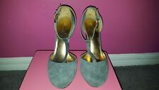Report Signature Guarda T-strap Platform Grey Stilletos sz 10