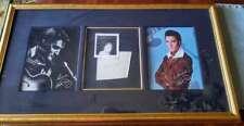 Elvis Presley Jsa Loa Signed 1958 Album Page W/photo At Signing Framed Autograph