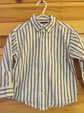 *GYMBOREE* Boys FESTIVE HOLIDAY Striped Button Front Shirt Size 2T