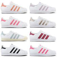 adidas Originals SUPERSTAR Sneaker Damen Schuhe Leder Turnschuhe Weiß Sportschuh