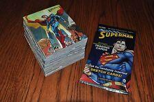Superman The Legend 62 card base set + 5 wrappers + card for digital comic