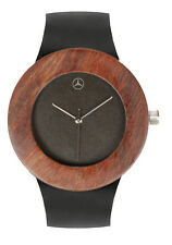Mercedes Benz Rosewood Watch with Soft Leather Strap