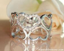 Reinheit SI Echte Diamanten-Ringe mit Herz