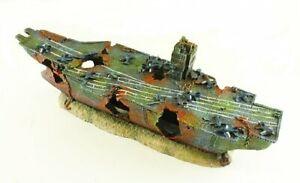 Military Aircraft Carrier Aquarium Fish Tank Ornament (Medium sized) Decoration