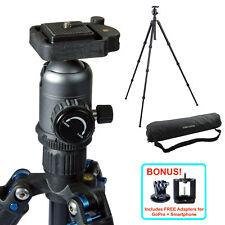 "55"" Aluminum Camera Tripod Stand w Ball Head GoPro iPhone Mount DSLR Photography"