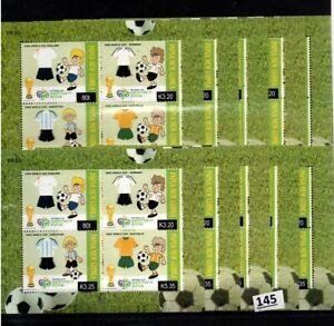 /// 10X PAPUA NEW GUINEA 2006 - MNH - SOCCER - GERMANY