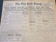 1921 DECEMBER 6 NEW YORK TIMES - LLOYD GEORGE REACHES WITH SINN FEIN - NT 6470