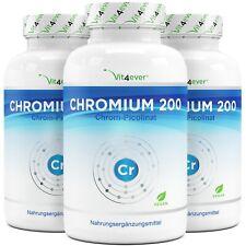 365 -1095 Tabletten Chromium 200mcg - Hochdosiert - 100% Chrom Picolinate