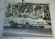 Vintage Original NHRA Paul Blevins Pro Stock VEGA poster Hand out picture 1970 s