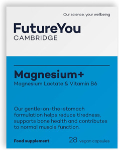 Magnesium+ 575mg Magnesium Lactate with Vitamin B6 - Easy-to-Absorb...