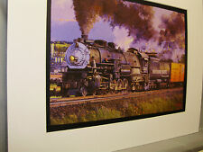 Southern Pacific Steam heading Suisun  Bay Bridge Artist Railroad Archives ee