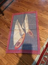 Ekelund 100% Cotton Sailboat Towel Preowned