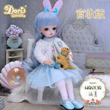 30cm 1/6 Mini BJD Doll with Blue Wigs Dress Clothes Assembled Full Set Kids Toys