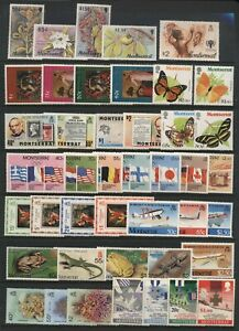 Montserrat Collection Commemorative Stamps Sets Unmounted Mint