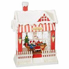 RAZ Imports Santa's Toy Shop Lighted Water House 10 Inch Holiday Snow Globe, ki