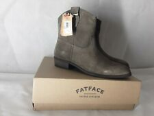 Fatface Ladies Suede Ankle Boots Size 7 Clova Suede Western Boots New