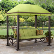 Outdoor Gazebo Front Porch Swing Lawn Yard Patio Deck 3-Person Bench Canopy Best