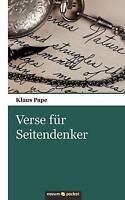Pape, Klaus, Verse für Seitendenker, Very Good Book