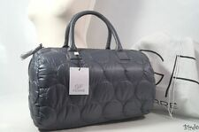 GIANFRANCO FERRE GREY QUILTED GYM WEEKEND HOLLDAL HANDBAG TOTE BAG LARGE NEW!!!