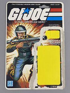 Hasbro GI Joe ARAH 1982 Zap Full Uncut Cardback! 11 Back, Bazooka soldier