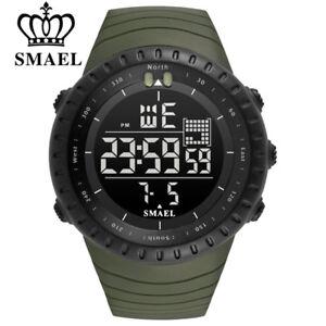 SMAEL Men Electronic Sport Watch Chronograph Digital Watches Boys LED Wristwatch
