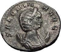 Salonina 253AD Authentic Silver Ancient Roman Coin Pudicitia Modesty Rare i58980