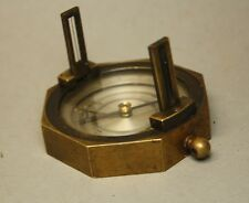 uralter Kompass Geologenkompass Messing ca. 1900 - Freiberg ? Militär 1. W [781]
