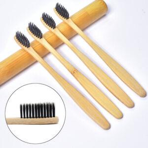 10Pcs Bamboo Toothbrush 100% Natural Organic Medium BPA Free Soft Healthy Brush