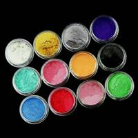 1 Set 12 Color Mica Pigment Powder Perfect for Soap Cosmetics Resin Colorant Dye