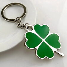 Four Leaf Clover Lucky Charm Keychain Keyring for Car Home Keys Key Fob Chain